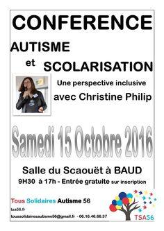 [FORMATION] Samedi 15 octobre 2016 L'association Tous Solidaires Autisme 56…