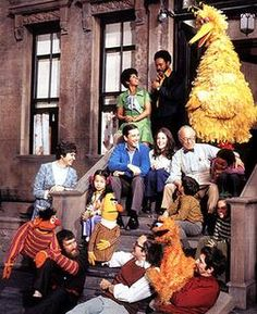 Sesame Street characters are kind of like the Simpsons - their looks really evolved over time.