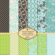 Sale Three Digital Paper Packs - Scrapbook Digital Papers - Pick your own 3 sets $9.95