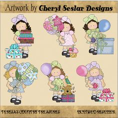 Hannah and #Friends #Birthday #Girls #Clipart