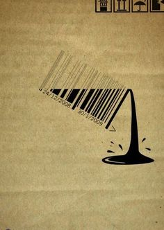 Great play on design. Carrefour bar code ad by Strategies, Cairo - website is Ads of the World adn has a large selection in different mediums Barcode Art, Barcode Design, Typography Design, Design Graphique, Art Graphique, Creative Advertising, Advertising Design, Advertising Campaign, Web Design