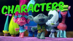 Trolls Movie Characters 2016 ✔