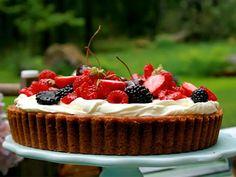 Cheesecake med mascarpone   Köket.se Cheesecakes, Tart, Food And Drink, Desserts, Mascarpone, Tailgate Desserts, Deserts, Pie, Cheesecake