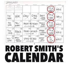 robert smith's calendar - Google Search