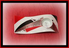 Bougeoir rouge, noir et platine pour forum