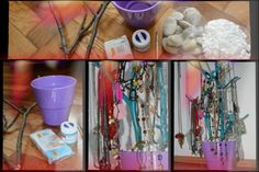 homemade jewelery stands