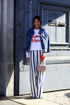 Milan Fashion Week Street Style: Show-Goers Get Graphic