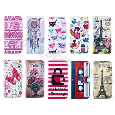 1Pc Luxury Fashion PU Leather Top ID Card Wallet Case Stand Cover For New Phones #UnbrandedGeneric #CardPocketMoneySlotStandMagneticFlip