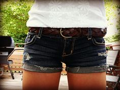 You can never go wrong with jean shorts!!