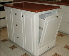 Kitchen island with hidden trash bin - 1000 Images About Diy Coffee Table To Kitchen Island On