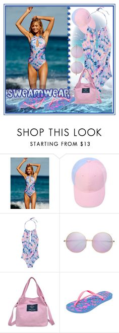 """Swimwear2017"" by signa2000 ❤ liked on Polyvore featuring Victoria's Secret, Havaianas, swimwear and swimsuit"