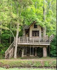 This multi-level treehouse overlooking the Cloudland Stations Mill Creek was designed by Pete Nelson of Animal Planets Treehouse Masters.<br> Welcome to the home of This Old Houses first-ever Idea