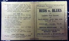 A fantastic pre-season programme from Workington AFC, unfortunately mounted to black card by the previous owner. Bill Shankly, Sir Alex Ferguson, Association Football, Red Vs Blue, Liverpool Fc, Programming, Blues, Seasons, History