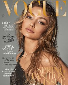 """344.4k Likes, 1,780 Comments - Gigi Hadid (@gigihadid) on Instagram: """"Very honored to be your March cover girl @britishvogue @edward_enninful with my sissy @bellahadid…"""""""