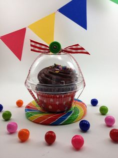 40 Clear Cupcake Boxes Party Wedding Favor Candy by ThePinkPicker, $19.00