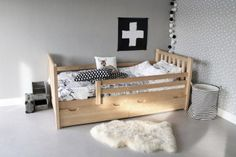 Kinderbed Tim Naturel (90 x 200) in massief grenenhout