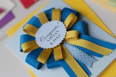 Bespoke Handmade Rosette Award Card These bespoke handmade rosette award card are perfect for: Maid of Honour | Bridesmaid | Best Man | Con...