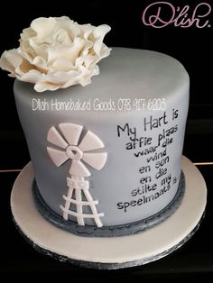 Windmill Cake 30th Birthday Cupcakes, Baby Birthday Cakes, 60th Birthday Party, Cupcake Toppers, Cupcake Cakes, Baby Tea, Gorgeous Cakes, No Bake Treats, Mason Jar Diy