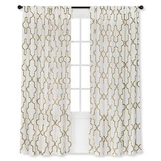 Threshold™ Dot Lattice Window Panel-2 of them for kitchen sliding glass door  Love this for our Bedroom!