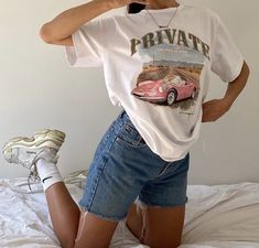Adrette Outfits, Retro Outfits, Cute Casual Outfits, Fashion Outfits, Vintage Summer Outfits, Girl Fashion, Short Outfits, Spring Outfits, Looks Street Style