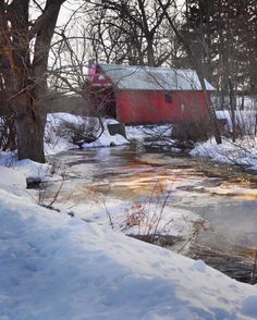 A covered bridge over Beaver Creek in Brookfield, NY.  Upstate, NY