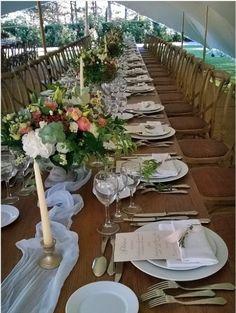 Chemin de table mariage en soie bleue