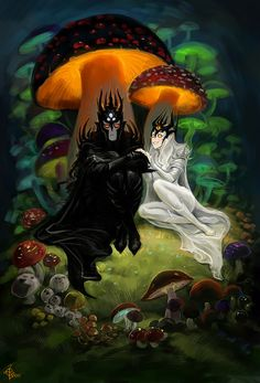 If fungi are the kingdom that grows in the darkness so the Dark Lords are their masters. PS. Today is my b-day (14th June) and I'm in Melkor's mood.