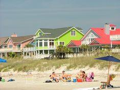 Homes on Isle of Palms Isle Of Palms South Carolina, South Carolina Coast, Beach Cottages, Cottages By The Sea, Beach Houses, Cottage Living, Cottage Homes, Coastal Living, I Love The Beach