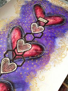 ART JOURNAL PAGE | SMILE | Nika In Wonderland Art Journaling and Mixed Media Tutorials