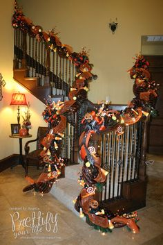 Stairs On Pinterest Christmas Decorations Stair Decor And Staircases