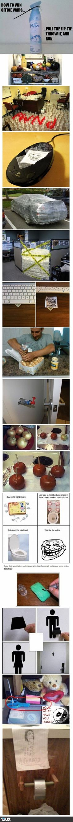 Doesn't have to be office pranks it could be for April fools