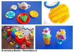 О пластилине Play-Doh (Плей-До), вагончике мороженого, печеньях и кафе со сладостями для животных) - Лепка из пластилина - Статьи - В гостях у Весны