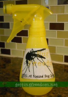 Homemade All Natural Bug Spray