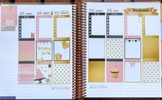 Alexis' spread this week before the pen! She used our brand new birthday kit! Stickers by Two To Plan on Etsy!