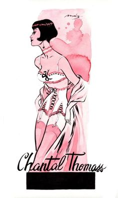 Chantal Thomass lingerie illustration