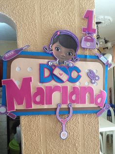 Banner doctora juguetes personalizado Paris Birthday Parties, Birthday Party Decorations, Party Themes, Doc Mcstuffins Toys, Doc Mcstuffins Birthday Party, Bday Girl, Ideas Para Fiestas, 2nd Birthday, Party Planning