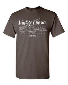 Classic Volkswagen T-Shirts - Vintage Classic VW Collection Handpainted on White Tee. $28.95, via Etsy.