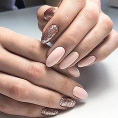 Semi-permanent varnish, false nails, patches: which manicure to choose? - My Nails Vernis Rose Gold, Nude Nails, Acrylic Nails, Black Nails, Party Nail Design, Hair And Nails, My Nails, Nails 2017, Party Nails