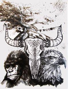 Tête de buffalo