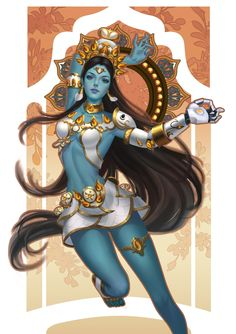 Overwatch by Yueran Li on ArtStation. Overwatch Comic, Overwatch Fan Art, Fanart Overwatch, Game Character, Character Concept, Concept Art, Anime Art Fantasy, Kali Goddess, Indian Goddess