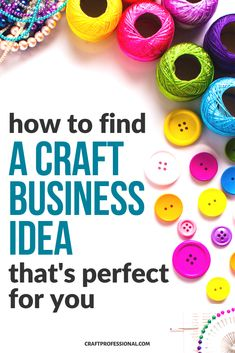 How to find a home craft business idea that's a perfect fit for your skills. #businessideas #craftbusiness #craftprofessional Selling Crafts Online, Craft Online, Craft Business, Business Ideas, Crafts To Sell, Home Crafts, Craft Blogs, Make And Sell, How To Make