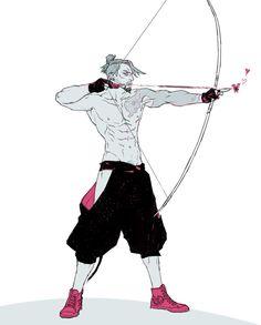 Part 2 ~ __________ Pairin Character Poses, Character Concept, Character Art, Concept Art, Overwatch Hanzo, Overwatch Fan Art, Hanzo Shimada, Poses References, Drawing Poses