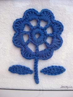 Crochet Flower Picture by bunny mummy, via Flickr