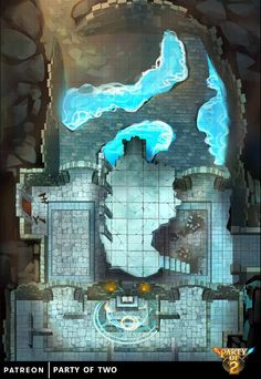 Party of Two is creating an RPG map library for DnD and other Tabletops Dungeons And Dragons Races, Dungeons And Dragons Classes, Dungeons And Dragons Homebrew, Dungeon Tiles, Dungeon Maps, Rpg Character Sheet, Dnd World Map, Pathfinder Maps, Tabletop Rpg