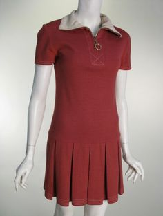 Here is a Mary Quant dress from 1967! She made the dropped waist a popular style in this era. 3/8/16