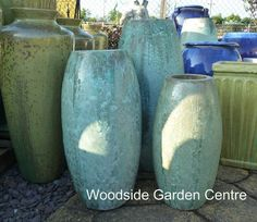 Charmant Extra Large Tall Glazed Opal Green Toggle Pot Planter | Woodside Garden  Centre | Pots To