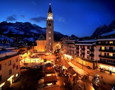 Cortina d'Ampezzo is a traditional Italian ski resort with a stunning, large ski area in the Dolomites. The town has a stylish reputation, but it maintains its friendly, local atmosphere. There is also plenty to keep non-skiers interested.