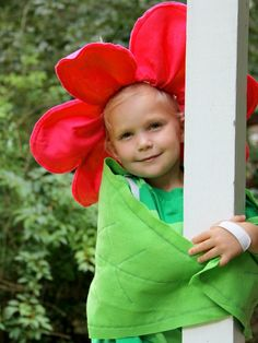How To Make a Flower Halloween Costume: This costume is sure to get some use all year long, not just for Halloween.  From DIYnetwork.com