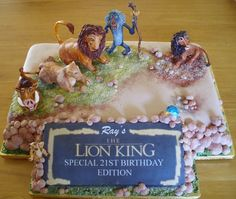 Lion King Cake. Joke: what moves faster a lion or tiger? a lion cuz it mofassa hahaha