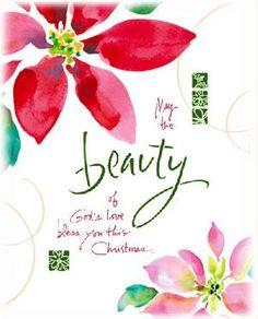 Beauty is God's Love - Kathy Davis Religious Christmas Card